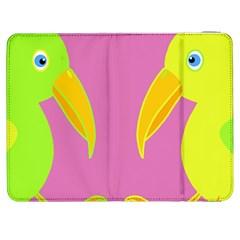 Parrots Samsung Galaxy Tab 7  P1000 Flip Case