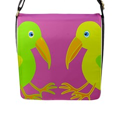 Parrots Flap Messenger Bag (L)