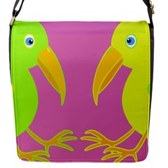 Parrots Flap Messenger Bag (S)