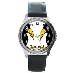 Ravens Round Metal Watch