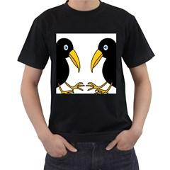 Ravens Men s T-Shirt (Black) (Two Sided)