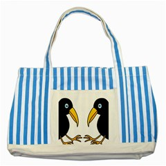 Ravens Striped Blue Tote Bag