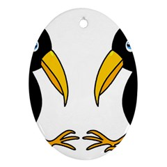 Ravens Oval Ornament (Two Sides)