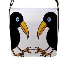 Ravens Flap Messenger Bag (L)