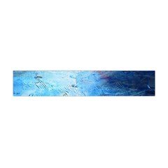 abstract blue and white print  Flano Scarf (Mini)