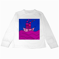 Boat Kids Long Sleeve T-Shirts