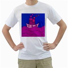 Boat Men s T-Shirt (White)