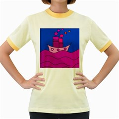 Boat Women s Fitted Ringer T-Shirts