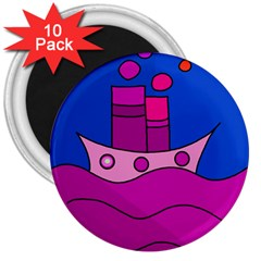 Boat 3  Magnets (10 pack)
