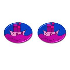 Boat Cufflinks (Oval)