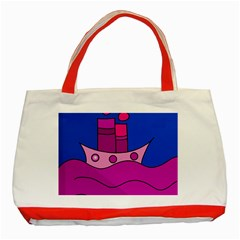 Boat Classic Tote Bag (Red)