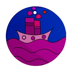 Boat Round Ornament (Two Sides)