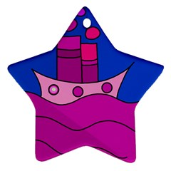 Boat Star Ornament (Two Sides)