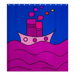 Boat Shower Curtain 66  x 72  (Large)