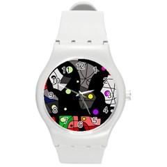 Optimistic decor Round Plastic Sport Watch (M)