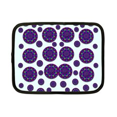 Shimmering Floral Abstracte Netbook Case (small)