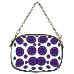Shimmering Floral Abstracte Chain Purses (two Sides)