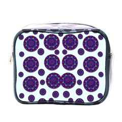 Shimmering Floral Abstracte Mini Toiletries Bags