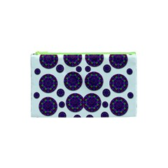 Shimmering Floral Abstracte Cosmetic Bag (xs)