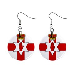 Ulster Banner Mini Button Earrings