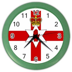 Ulster Banner Color Wall Clocks