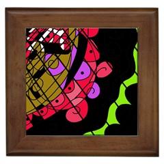 Elegant abstract decor Framed Tiles