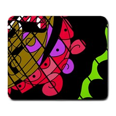 Elegant abstract decor Large Mousepads