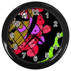 Elegant abstract decor Wall Clocks (Black)
