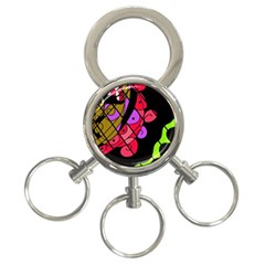Elegant abstract decor 3-Ring Key Chains
