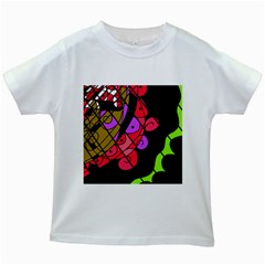 Elegant abstract decor Kids White T-Shirts