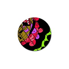 Elegant abstract decor Golf Ball Marker