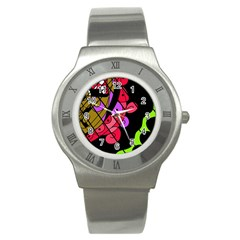 Elegant abstract decor Stainless Steel Watch