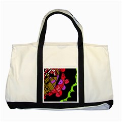 Elegant abstract decor Two Tone Tote Bag