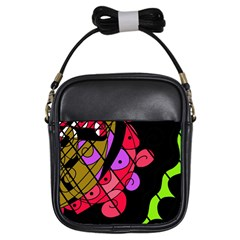 Elegant abstract decor Girls Sling Bags