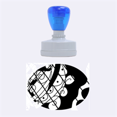 Elegant abstract decor Rubber Oval Stamps