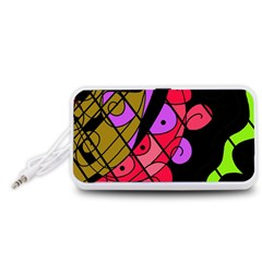 Elegant abstract decor Portable Speaker (White)