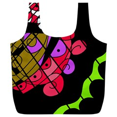 Elegant abstract decor Full Print Recycle Bags (L)