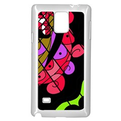 Elegant abstract decor Samsung Galaxy Note 4 Case (White)