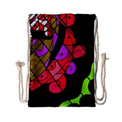 Elegant abstract decor Drawstring Bag (Small)
