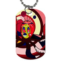 Octopus Dog Tag (One Side)