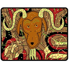 Billy goat Fleece Blanket (Medium)
