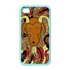 Billy goat Apple iPhone 4 Case (Color)