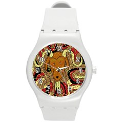 Billy goat Round Plastic Sport Watch (M)