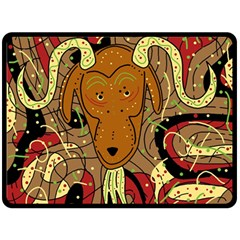 Billy goat Double Sided Fleece Blanket (Large)