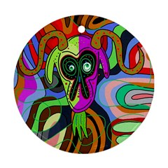 Colorful goat Ornament (Round)