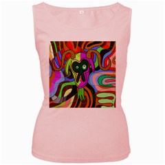 Colorful goat Women s Pink Tank Top