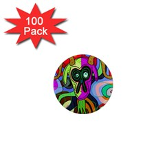Colorful goat 1  Mini Magnets (100 pack)