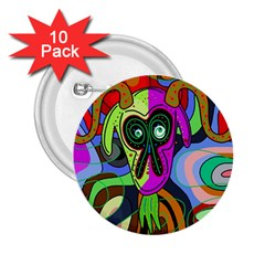 Colorful goat 2.25  Buttons (10 pack)