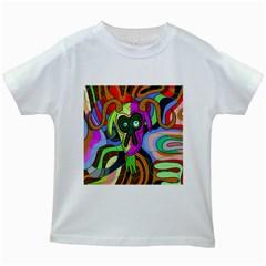 Colorful goat Kids White T-Shirts