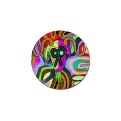 Colorful goat Golf Ball Marker (4 pack)